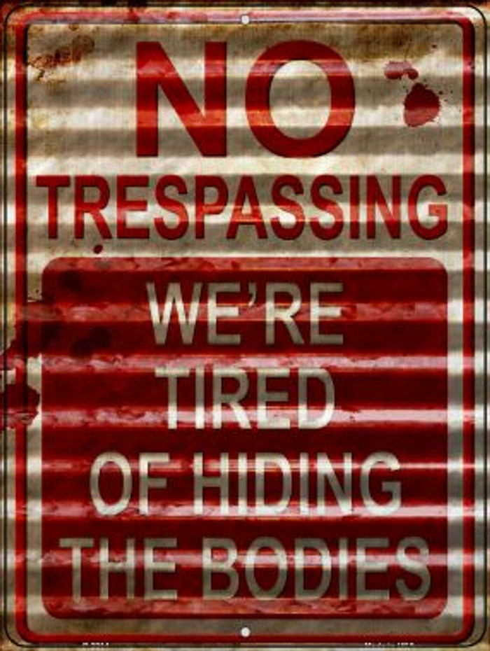No Trespassing Novelty Parking Sign P-2314