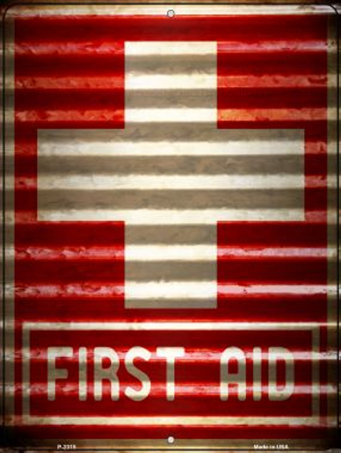 First Aid Novelty Parking Sign P-2315