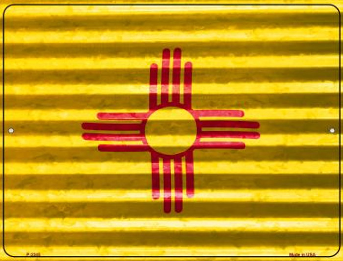 New Mexico Flag Novelty Parking Sign P-2345