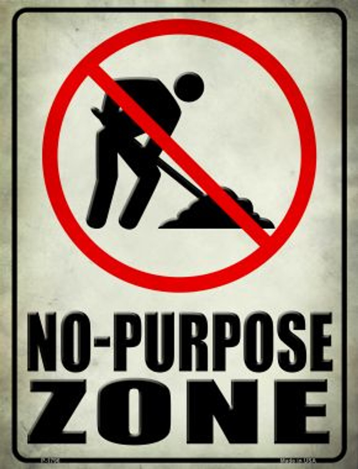 No Purpose Zone Parking Sign P-1796