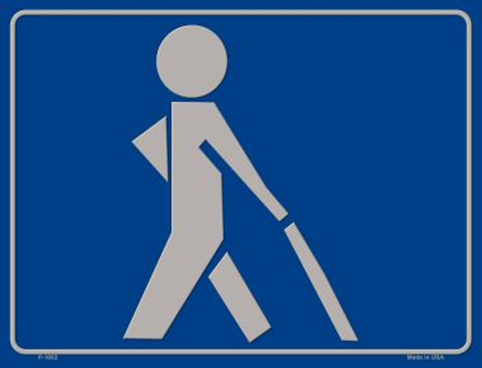 Visually Impaired Walking Stick Parking Sign P-1802