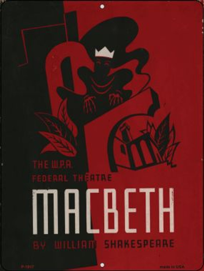 Macbeth by Shakespeare Vintage Poster Wholesale Parking Sign P-1917