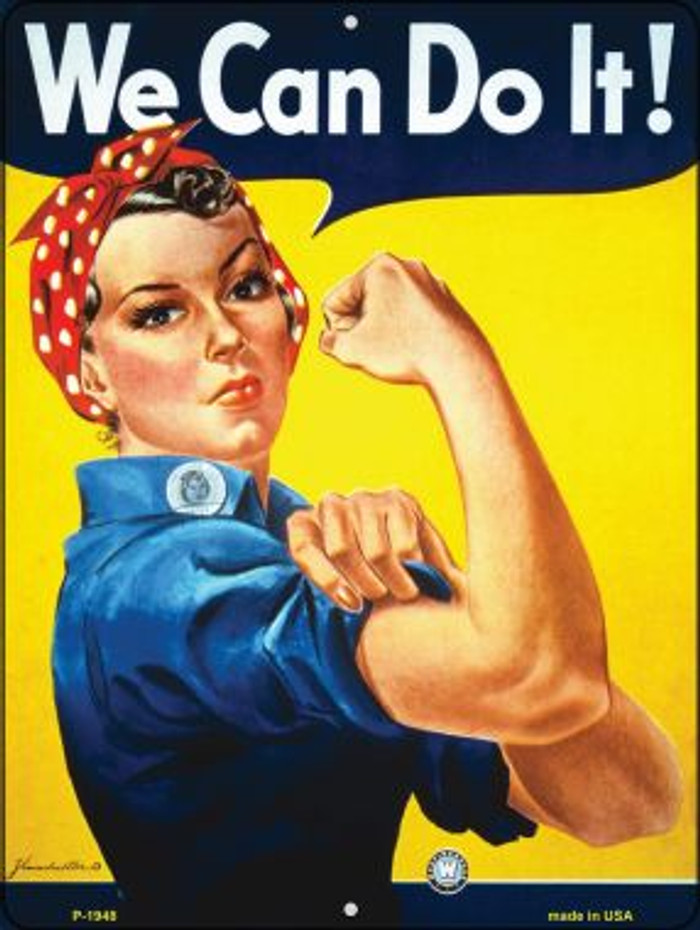We Can Do It Vintage Poster Parking Sign P-1948