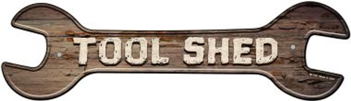 Tool Shed Novelty Metal Wrench Sign W-143