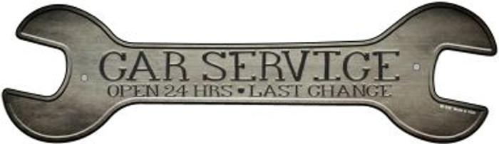 Car Service Novelty Metal Wrench Sign W-156