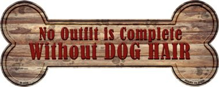 Outfit Without Dog Hair Wholesale Novelty Bone Magnet B-025