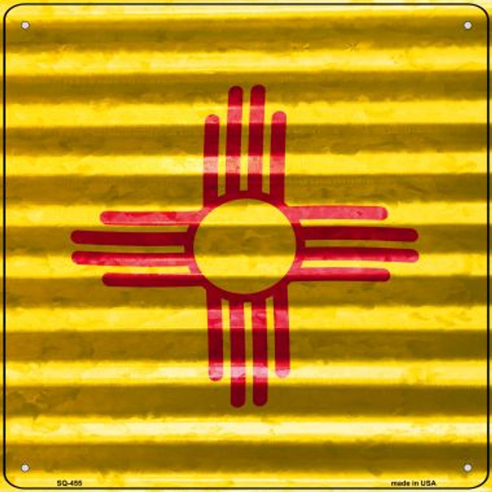New Mexico Flag Corrugated Effect Novelty Square Sign SQ-455