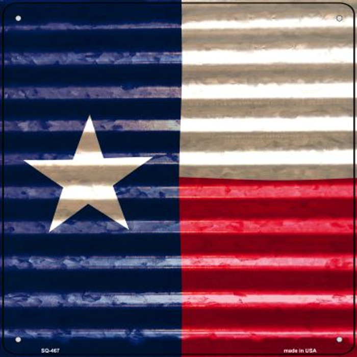 Texas Flag Corrugated Effect Novelty Square Sign SQ-467