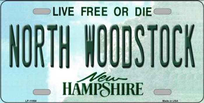 North Woodstock New Hampshire Novelty License Plate LP-11864