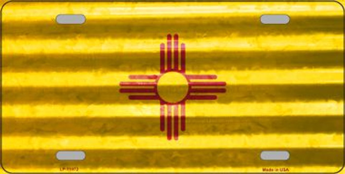 New Mexico Corrugated Flag Novelty License Plate LP-11972
