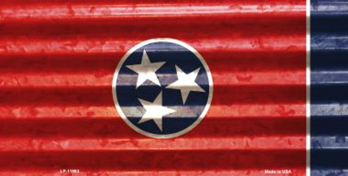 Tennessee Corrugated Flag Novelty License Plate LP-11983