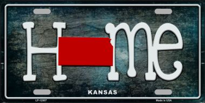 Kansas Home State Outline Novelty License Plate LP-12007