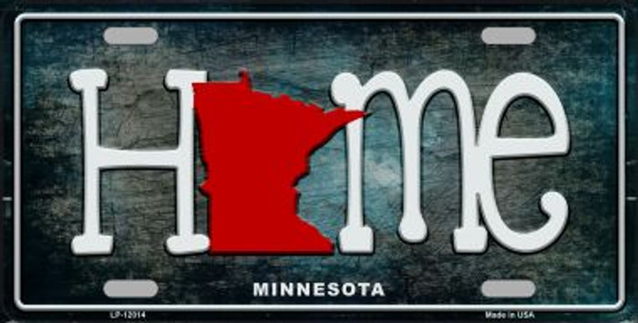 Minnesota Home State Outline Novelty License Plate LP-12014
