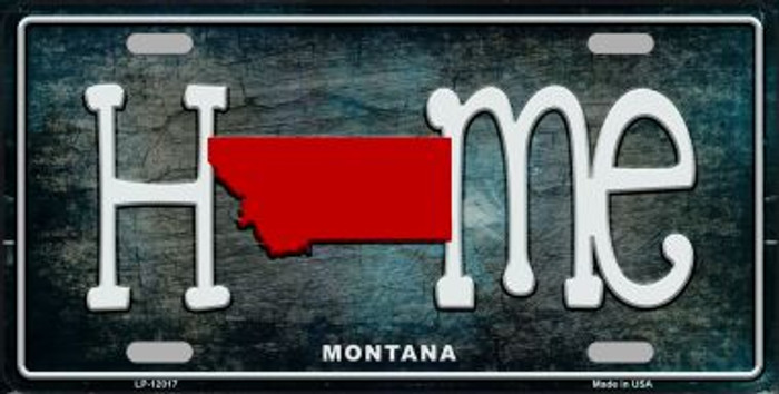 Montana Home State Outline Novelty License Plate LP-12017