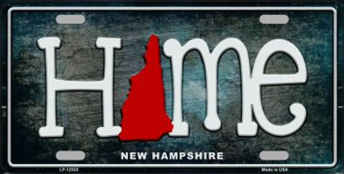 New Hampshire Home State Outline Novelty License Plate LP-12020