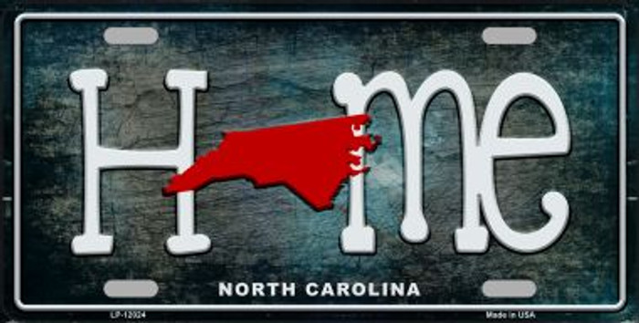 North Carolina Home State Outline Novelty License Plate LP-12024