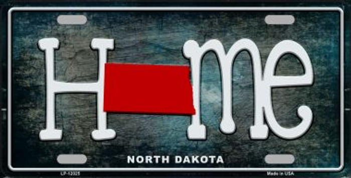 North Dakota Home State Outline Novelty License Plate LP-12025
