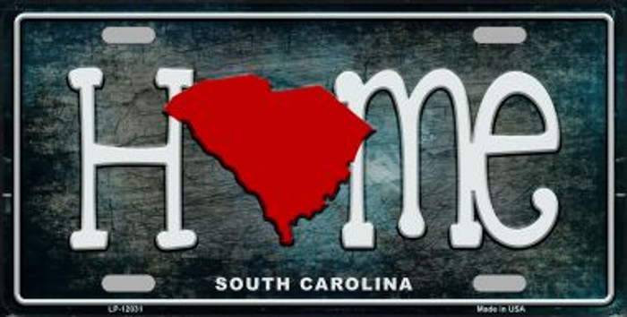 South Carolina Home State Outline Novelty License Plate LP-12031