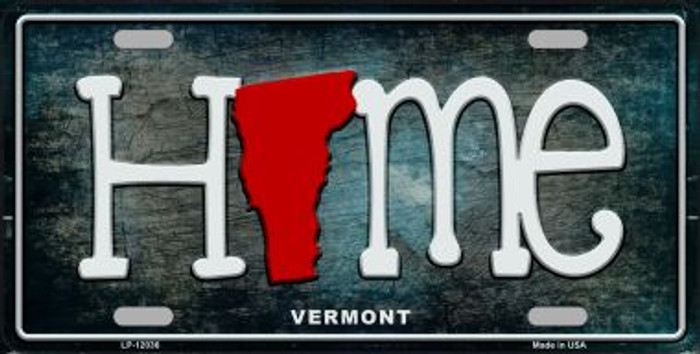 Vermont Home State Outline Novelty License Plate LP-12036