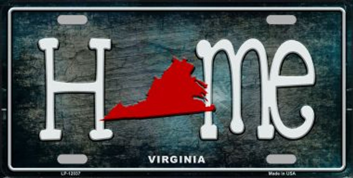 Virginia Home State Outline Novelty License Plate LP-12037