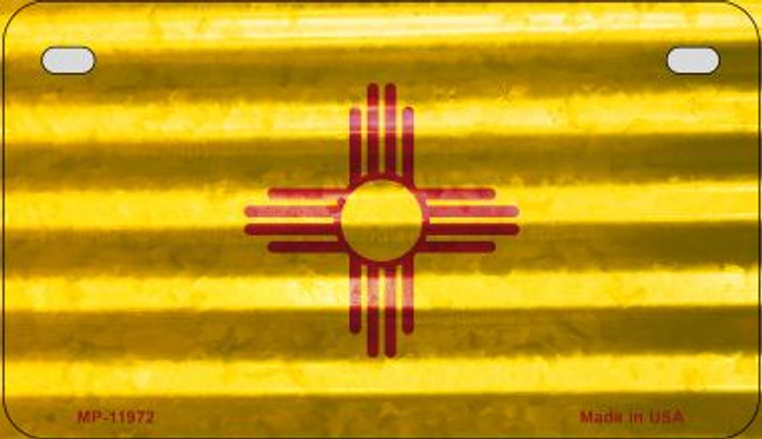 New Mexico Corrugated Flag Novelty Motorcycle Plate MP-11972