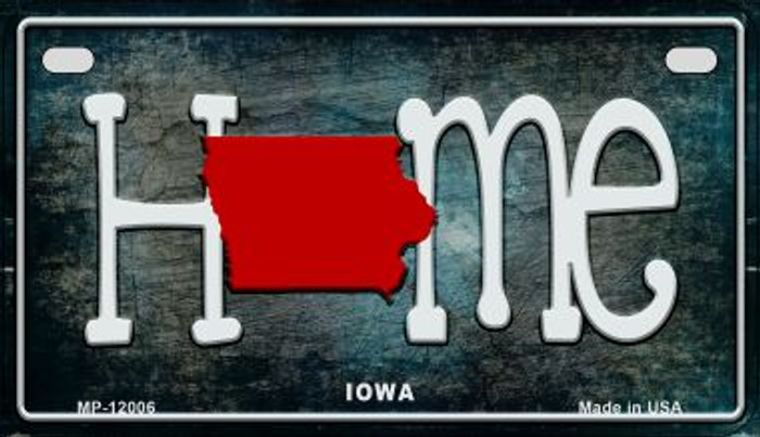 Iowa Home State Outline Novelty Motorcycle Plate MP-12006