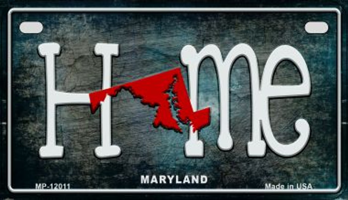 Maryland Home State Outline Novelty Motorcycle Plate MP-12011