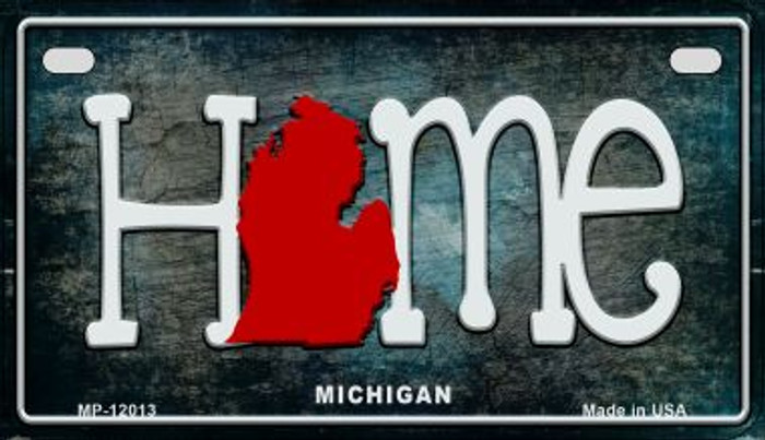 Michigan Home State Outline Novelty Motorcycle Plate MP-12013