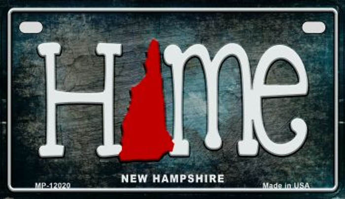 New Hampshire Home State Outline Novelty Motorcycle Plate MP-12020