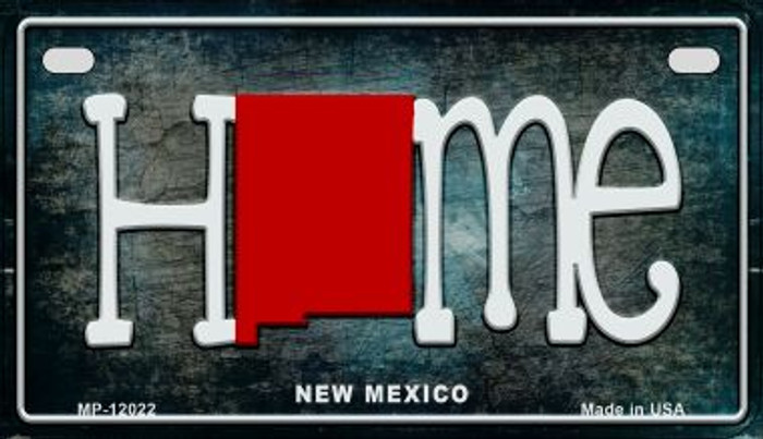 New Mexico Home State Outline Novelty Motorcycle Plate MP-12022