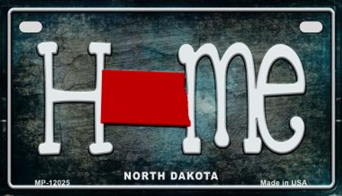 North Dakota Home State Outline Novelty Motorcycle Plate MP-12025