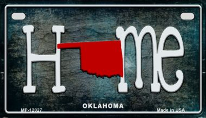 Oklahoma Home State Outline Novelty Motorcycle Plate MP-12027