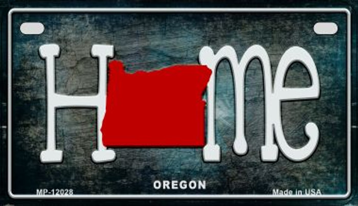 Oregon Home State Outline Novelty Motorcycle Plate MP-12028