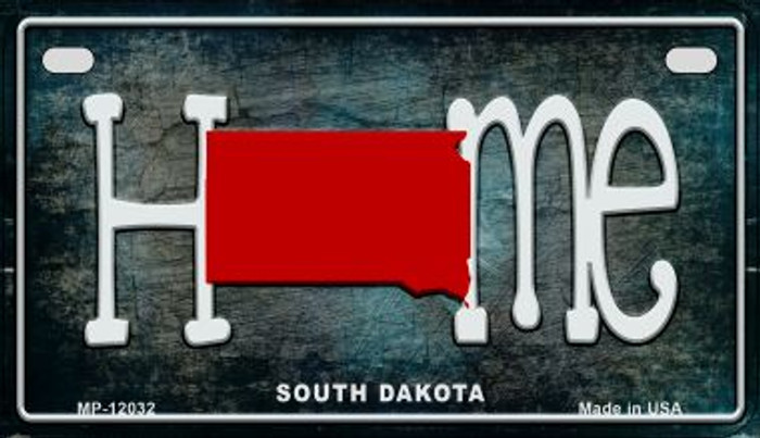 South Dakota Home State Outline Novelty Motorcycle Plate MP-12032
