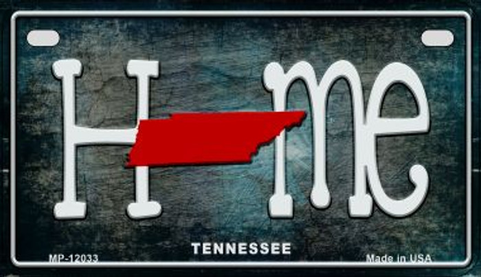 Tennessee Home State Outline Novelty Motorcycle Plate MP-12033