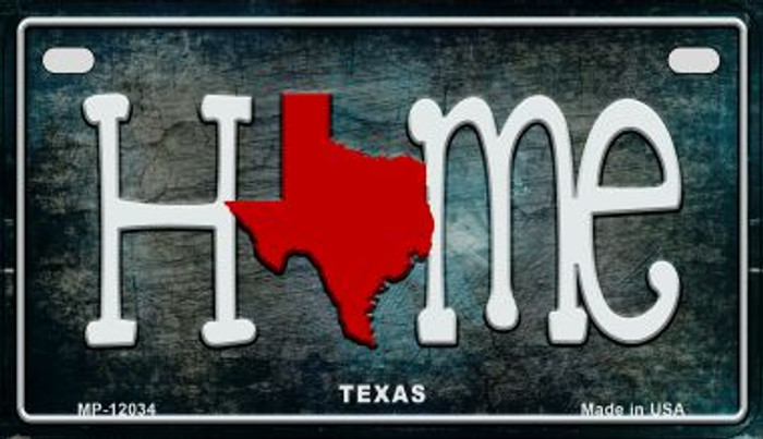 Texas Home State Outline Novelty Motorcycle Plate MP-12034