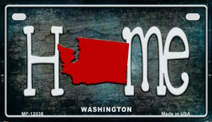 Washington Home State Outline Novelty Motorcycle Plate MP-12038