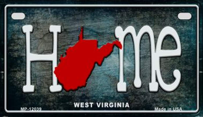 West Virginia Home State Outline Novelty Motorcycle Plate MP-12039