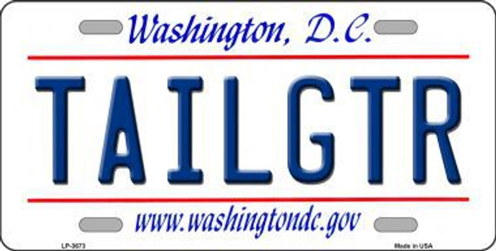 Tailgtr Washington DC Novelty Metal License Plate