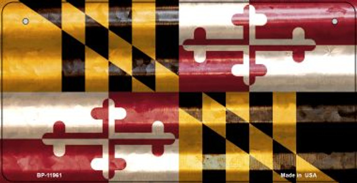 Maryland Corrugated Flag Novelty Bicycle Plate BP-11961