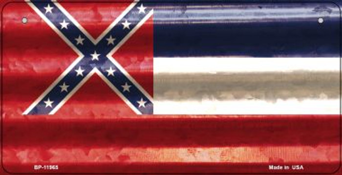 Mississippi Corrugated Flag Novelty Bicycle Plate BP-11965