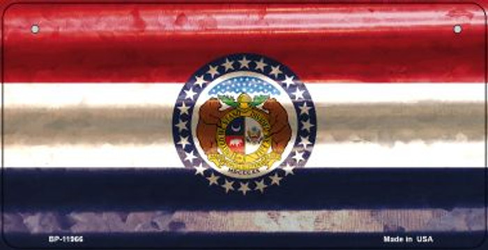 Missouri Corrugated Flag Novelty Bicycle Plate BP-11966