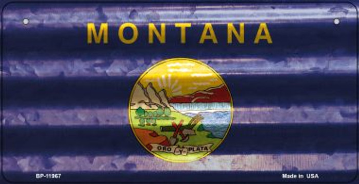 Montana Corrugated Flag Novelty Bicycle Plate BP-11967