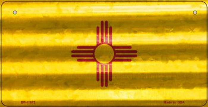 New Mexico Corrugated Flag Novelty Bicycle Plate BP-11972
