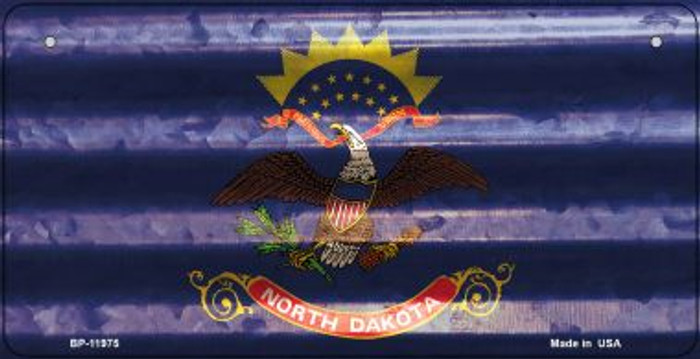 North Dakota Corrugated Flag Novelty Bicycle Plate BP-11975