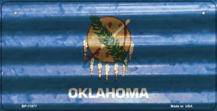 Oklahoma Corrugated Flag Novelty Bicycle Plate BP-11977