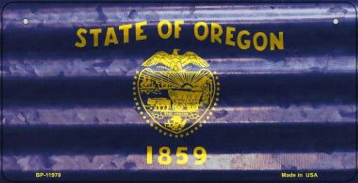 Oregon Corrugated Flag Novelty Bicycle Plate BP-11978