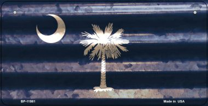 South Carolina Corrugated Flag Novelty Bicycle Plate BP-11981