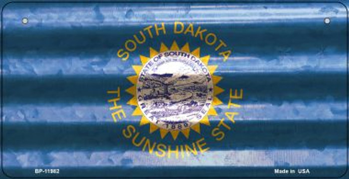 South Dakota Corrugated Flag Novelty Bicycle Plate BP-11982