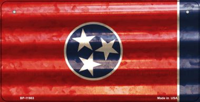 Tennessee Corrugated Flag Novelty Bicycle Plate BP-11983